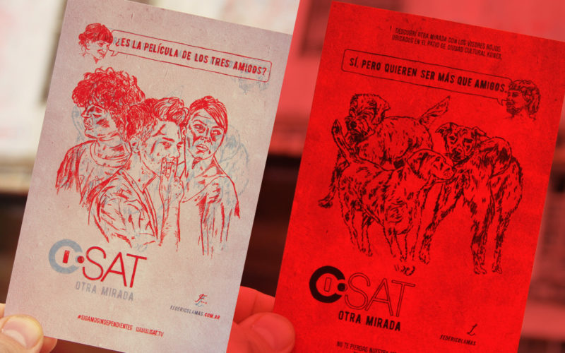 Postcards for ISAT tv channel as part of an action on KONEX cultural center