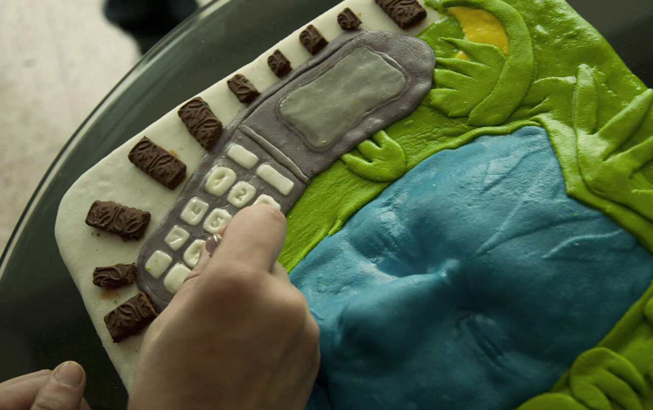 Bluescreen cake