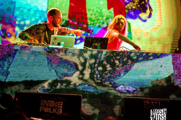 Live VJ set at Music Wins fest with many fantasy title sequences to join each live mix. ph. Patricio Colombo